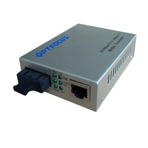 DC48V Power Over Ethernet POE media converter 100M 1 port FX to 1 port 10 / 100M rj45