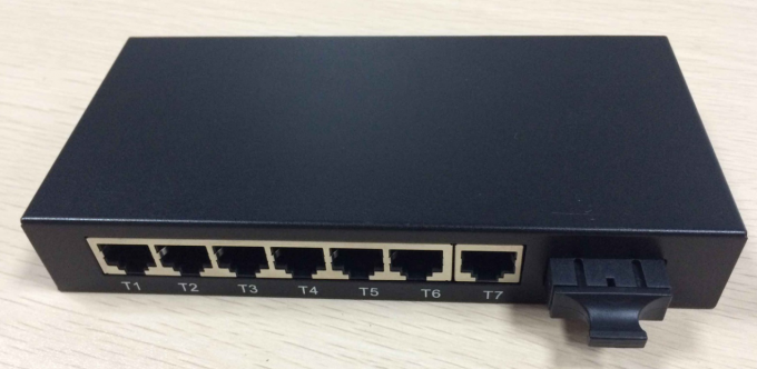Fast 8 ports fiber optic ethernet switch 100FX and 7 10