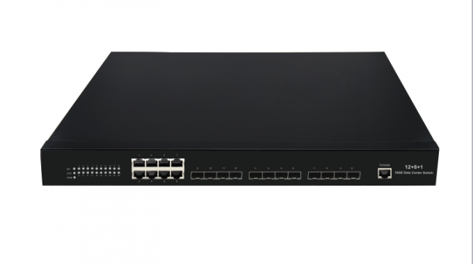 10 Gigabit Data Center Switch L2 12 10G SFP+ Optical ports 8 10 / 100 / 1000M RJ45