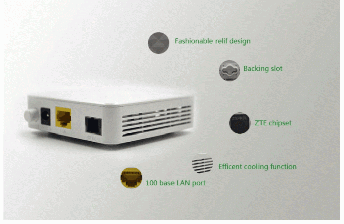 Well Compatible GPON EPON 1GE Ethernet ZTE Chipset  With Remote Reset