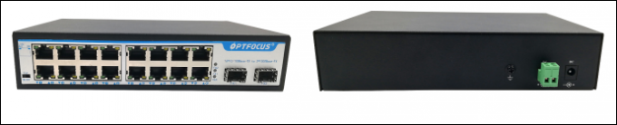 SFP Fiber Ethernet Switch 8W Max Power Wall Mounts Installation 207mm × 140mm × 45mm