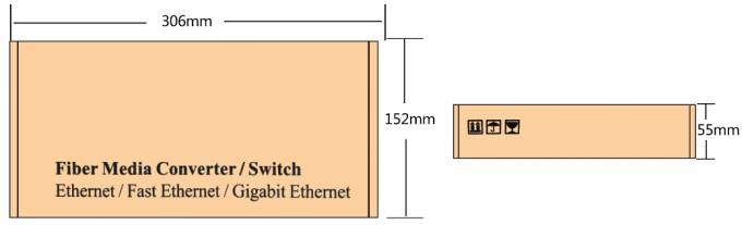 190mm × 104mm × 29mm Fiber Optic Switch , Power Over Ethernet Switch With LED Indicators