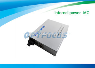 China Dual Mode Fiber Media Converter RJ45 10 / 100 M  Internal Power WDM MM SM supplier