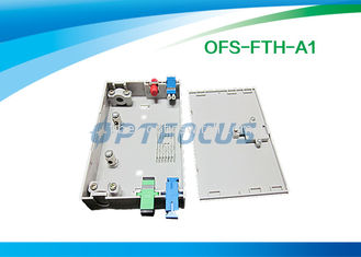Wall Mount Fiber Termination Box Lightweight FTTH LC PC Patch Cord
