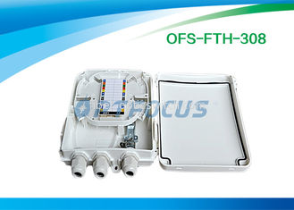 IP 65 Optical Passive Fiber Termination Box FTTH 16 SC Adapter 1:8 PLC Splitter Indoor Plastic Boxes