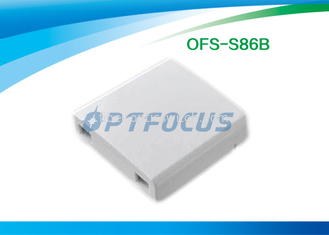 Indoor Mini Fiber Termination Box Optical Socket 0.2dB 90% Working Humidity