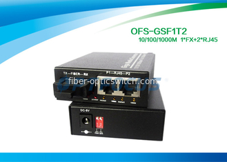 10 / 100 / 1000M Half Duplex rj45 Switch Fiber Optic Cat. 5 UTP cable without module