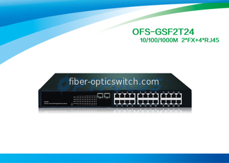 1310nm Single Mode Fiber Optic Switch 2 SFP 1000 BASE - Fx 24 10 / 100 / 1000 BASE - Tx