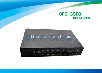SFP 8 Port Fiber Optic Ethernet Switch 100mbps , Full Duplex Switch Dual Mode