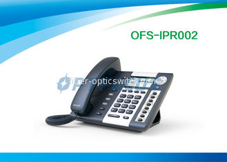 "China Corded Telephones POE IP Phone 4 SIP lines 3.2"" 224 x 128 Pixel LCD Dual Ethernet Port supplier"