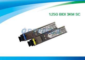China 1.25G Bi - Di SFP Optical Transceiver 1310nm 1550nm 3km SC Connector factory
