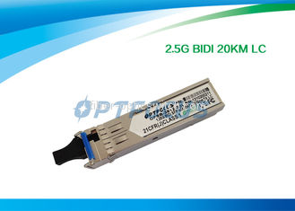 China 1.25G Bi - Di SFP Optical Transceiver 20km Simplex LC Connector RoHS factory