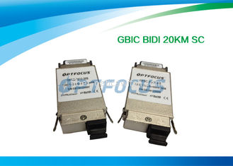 China BI-DI 20KM SC Single Mode Fiber GBIC Transceiver 1310nm TX / 1550nm RX 1.25G factory