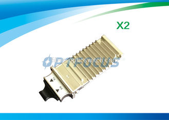China 1310nm Single Mode Fiber Transceiver , 10km LC Transceiver 10gbase-sr x2 module DDM factory