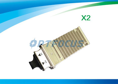 China Fiber Optical Single Mode Transceiver DDM x2-10gb-sr 10gbase-sr x2 module +3.3V Duplex factory