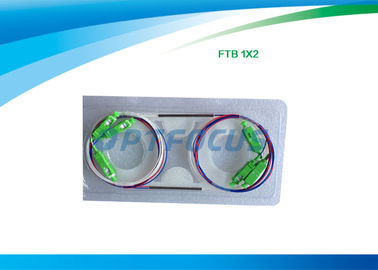 China 1 m Fiber Optic Splitter , 2 Way Optical Splitter FBT Coulper Local Area Networks factory