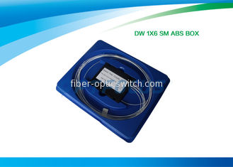 China ABS 6 Way Optical Splitter Fiber Splitting FBT 1x6 1x8 1x32 DWDM Low Polarization Dependence factory