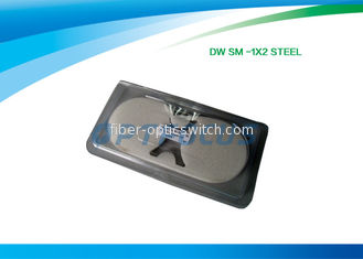 China 1×2 Steel FBT Fiber Optic Coupler Splitter SM SW 1310nm 1550nm Fiber Coupling factory