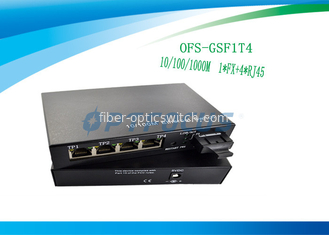 Ethernet 1000Mbps Poe Gigabit Switch 1 Port 1FX + 4UTP 1MKb External Power