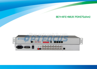 "China 8 E1 Mux PDH Multiplexer 19"" Rack , High Voltage Multiplexer Digital Multiplexing factory"