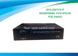 SC Fiber Managed Poe Switch 20KM 100BASE - Fx + 4 Port 10 / 100BASE - Tx DF SM