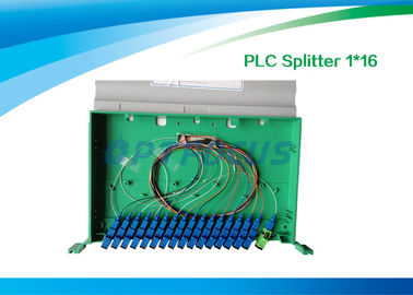 China High Reliability Fiber Optic Splitter 1 In 16 Out / 1260nm 1650nm PLC Splitter 19'' factory