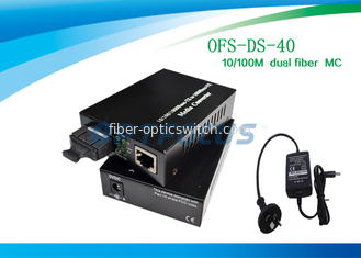 China Gigabit Media Converter SM 10 / 100M 1310nm 40Km SC , External Power factory