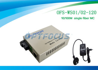China Optical Media Converter 1310 / 1550 Nm Single Fiber SM SC 120KM factory