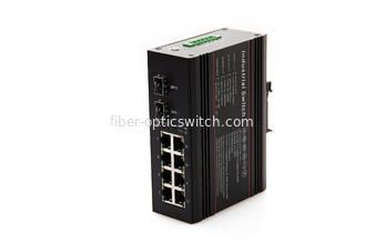 China 10/100/1000M 8 Ports Industrial Ethernet Switch , DIN Rail Mount managed switch factory