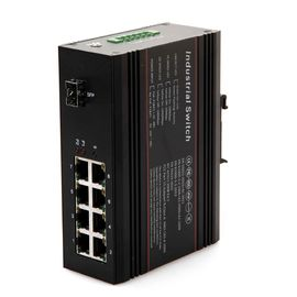 China PoE function Industrial Ethernet Switch 1 gigabit fiber port , 8 10M / 100M RJ45 port factory