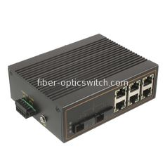 Fast industrial fiber switch / unmanaged Ethernet switch 2 100M fiber ports 6 10 / 100M rj45 ports