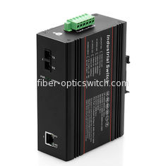 China PoE Industrial Ethernet Switch 1 100M fiber port and 1 10 / 100M RJ45 port factory