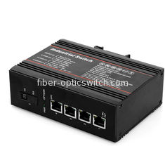 China WDM Industrial Switch support POE 1*100M fiber port 4*10 / 100M rj45 ports factory