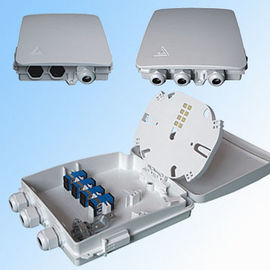 China Indoor 8 Cores Ftth Terminal Box Fiber Optic Wall Mounting With Plc Splitter / Pigtail And Adapters supplier