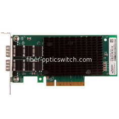 China 10G dual port Ethernet Fiber Network Card PCI - Express Intel controller 2 SFP+ supplier