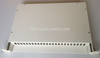 Slidable Optical Fiber Termination Box Distribution Frame 19 Inches 1U 24 Cores Simplex