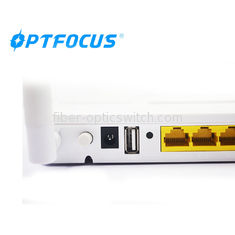 4 Ports Gigabit EPON ONU 1 Power Switch ZTE Chipset Compatible For Huawei