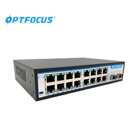 China SFP Fiber Ethernet Switch 8W Max Power Wall Mounts Installation 207mm × 140mm × 45mm factory