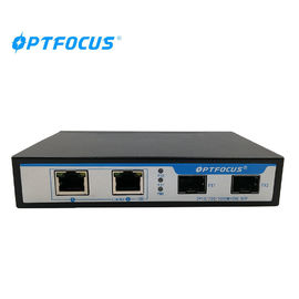 High Reliable Fiber Optic Switch 2 Port 10 / 100 / 1000M With Broadcast Storm Control