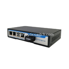 Stable Power Supply Fiber Optic Switch , 4 Port POE Ethernet Switch With Auto Uplink