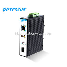 Wall - Mount Industrial Ethernet Switch 1 Port Supports Daisy - Chain Connection