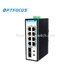 Broadcast Storm Controlled Industrial Ethernet Switch Redundant Dual DC Power Inputs