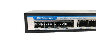 High Reliability Fiber Optic Switch 8 - Port Gigabit SFP 10 / 100 / 1000 Mbps