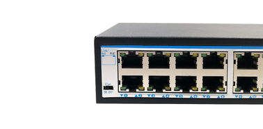 Stable power supply Power Over Ethernet POE Switch 16 port10 / 100 / 1000M +2 Uplink 10 / 100 / 1000M for ip cameras
