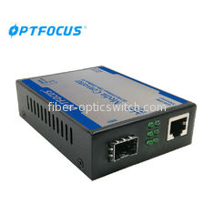 LED Indicators Optical Media Converter 1 Port 1000M PSE 1KM SFP Long Lifespan