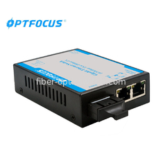 Durable 10 / 100M Fiber Optic Ethernet Switch 1310nm With LED Indicators