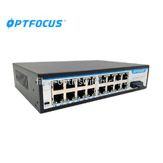 Multi Ports Fiber Optic Switch 1000 Base - X With Redundant Dual DC Power Inputs