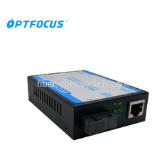 China 10 / 100M Fiber Media Converter Single Fiber SM SC 80KM , Black or Silver factory