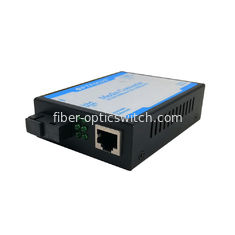 China SC Single Ethernet Fiber Optic Converter 1310nm 1550nm SM 60KM factory