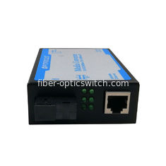 China Optical Fiber Media Converter 10 / 100 / 1000M , LFP 80 km Black or Silver factory
